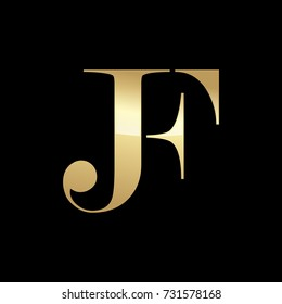 Abstract JF Initials Logo