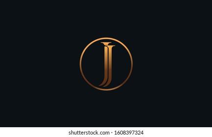 An abstract JJ logo design template
