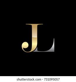 Abstract JL Initials Logo