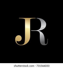 Abstract JR Initials Logo, Alphabet Logo