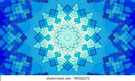 Abstract kaleidoscope background. Beautiful multicolor kaleidoscope texture. Unique kaleidoscope design.Vector illustration.