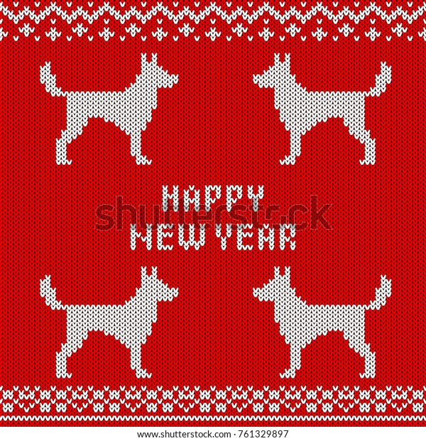 Christmas Invitation Background Png.Abstract Knitted Dog Seamless Pattern Background Stock