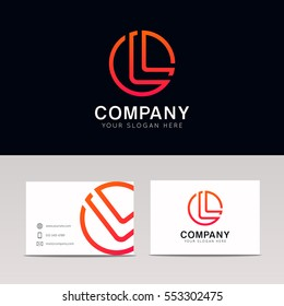 Abstract L logo letter icon sign company logotype vector design
