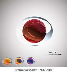 Abstract l vector background.Set. EPS10