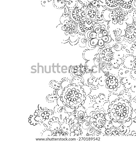 Abstract Lace Template Frame Design Card Stock Vector (Royalty Free ...