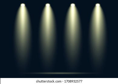 Abstrakter Lampenfokus auf Hintergrund