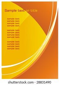 Abstract layout / background - orange wavy design