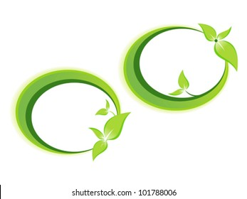 abstract leaf based template vector illustration