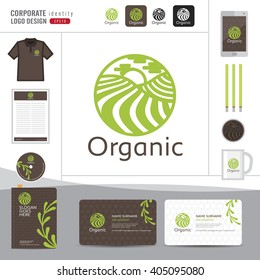 Abstract leaf logo design,Organic elegant logo design,Corporate identity concept for organic shop,restaurant,vector illustrator