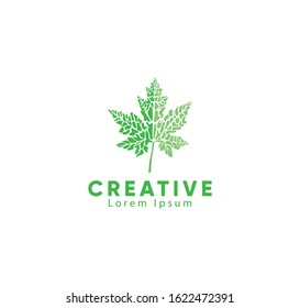Abstract leaf logo icon, Vector illustration.