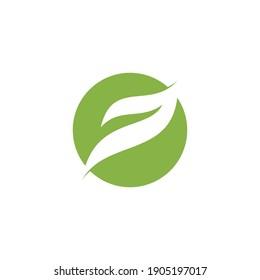 Abstract leaf logo, simple but elegant