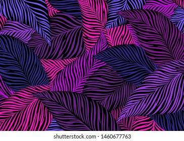 Abstract leaf pattern background. Vector illustration background. For print, textile, web, home decor, fashion, surface, graphic design