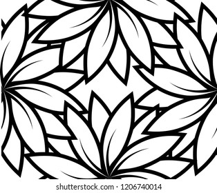 abstract leaf pattern white background vector