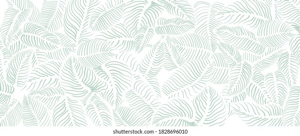 Abstract leave background pattern vector. Tropical monstera leaf design wallpaper. Botanical texture design for print, wall arts, and wallpaper.
