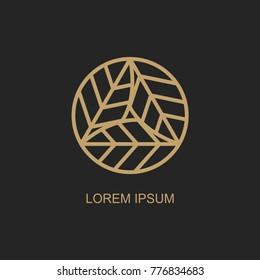 abstract leaves logo design templates. vector emblem