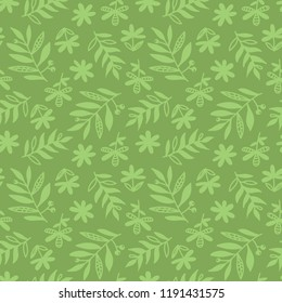 Abstract leaves seamless pattern. Vector flowers , leaf foliage background. Flover Icons, symbols collection.