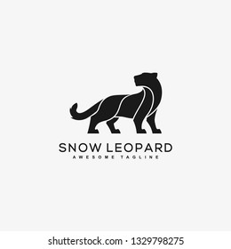 Abstract Leopard Black Color Concept illustration vector template. Suitable for Creative Industry, Multimedia, entertainment, Educations, Shop, and any related business