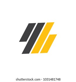 abstract letter 4b stripes logo vector