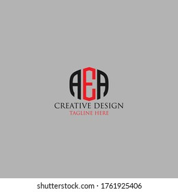 Abstract Letter AEA logo design template.