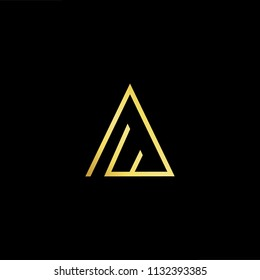 Abstract letter AF FA. minimal logo design template. Vector letter logo with gold and black color.