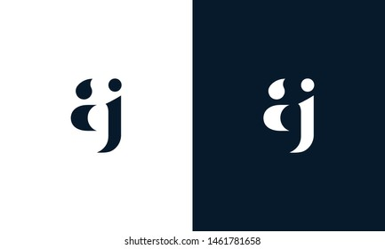Abstract letter AJ logo. This logo icon incorporate with abstract shape in the creative way. It look like letter AJ. It will be suitable for Which company name start AJ.