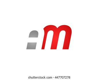 Abstract letter AM. lovely logo design template.