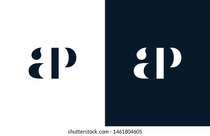Abstract letter AP logo. This logo icon incorporate with abstract shape in the creative way. It look like letter AP. It will be suitable for Which company name start AP.
