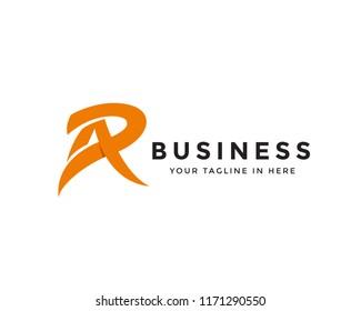 Abstract letter AR logo, A slash logo design
