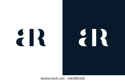 Abstract letter AR logo. This logo icon incorporate with abstract shape in the creative way. It look like letter AR. It will be suitable for Which company name start AR.