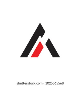 abstract letter a arrow triangle logo