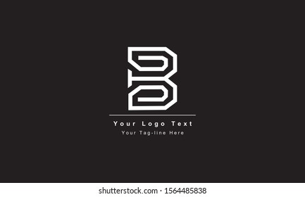 Abstract letter B logo design. Creative,Premium Minimal emblem design template. Graphic Alphabet Symbol for Corporate Business Identity. Initial BB vector element