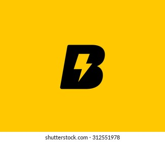Abstract letter B logo. Dynamic unusual font. Universal fast speed fire moving quick energy icon. Flash vector logotype. Rapid thunderbolt  superhero t shirt print, apparel fashion tee symbol.