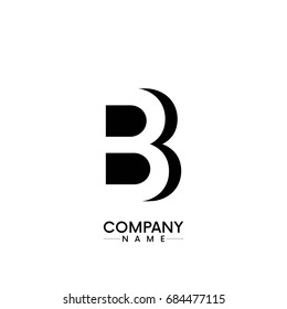 abstract letter B/BB company logo for business vector of the black color