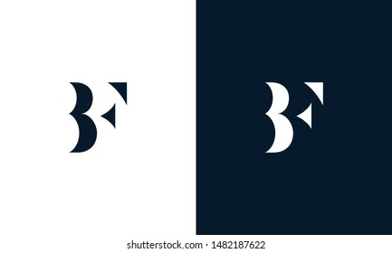 Abstract letter BF logo. This logo icon incorporate with abstract shape in the creative way.
