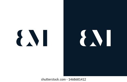 Abstract letter BM logo. This logo icon incorporate with abstract shape in the creative way. It look like letter BM. It will be suitable for Which company name start BM.