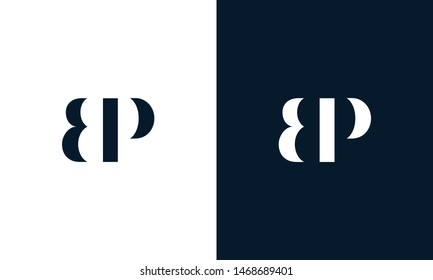 Abstract letter BP logo. This logo icon incorporate with abstract shape in the creative way. It look like letter BP. It will be suitable for Which company name start BP.