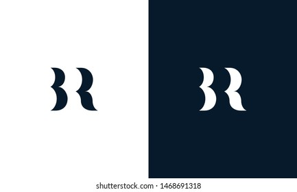 Abstract letter BR logo. This logo icon incorporate with abstract shape in the creative way. It look like letter BR. It will be suitable for Which company name start BR.