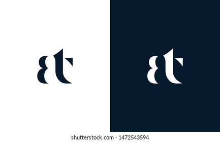 Abstract letter Bt logo. This logo icon incorporate with abstract shape in the creative way. It look like letter b and t.