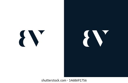 Abstract letter BV logo. This logo icon incorporate with abstract shape in the creative way. It look like letter BV. It will be suitable for Which company name start BV.
