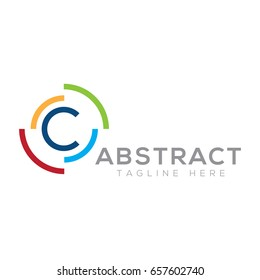 Abstract letter C logo