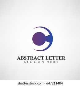 Abstract Letter C logotype. Suitable for trademarks, company logo, and other. Vector Illustration