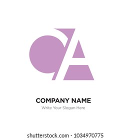Abstract letter CA AC logo design template, Pink Alphabet initial letters company name concept. Flat thin line segments connected to each other, abstract letter ca ac vector logo concept