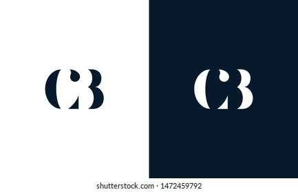 Abstract letter cb logo. This logo icon incorporate with abstract shape in the creative way. It look like letter C and B.
