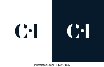 Abstract letter ch logo. This logo icon incorporate with abstract shape in the creative way. It look like letter C and H.