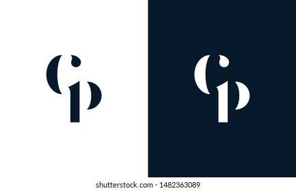 Abstract letter CP logo. This logo icon incorporate with abstract shape in the creative way.