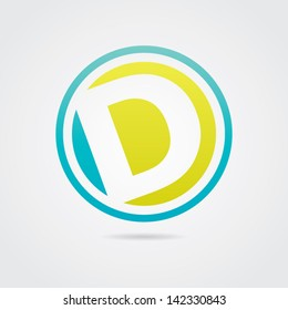 Abstract Letter D Icon