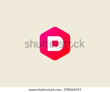 abstract letter d logo design template のベクター画像素材