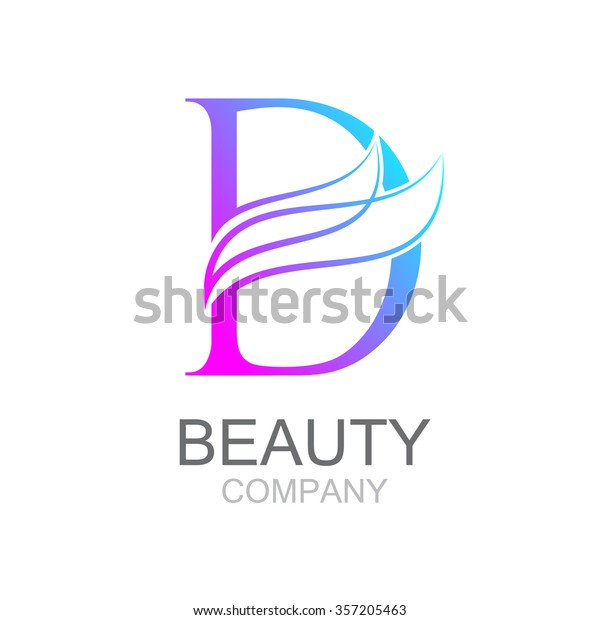 Letter D Templates.Abstract Letter D Logo Design Template Beauty Fashion