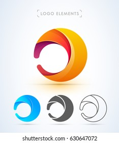 Abstract letter d or o logo template