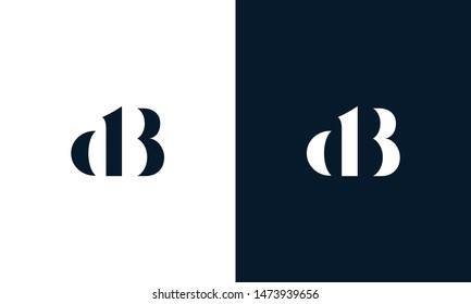 Abstract letter DB logo. This logo icon incorporate with abstract shape in the creative way.